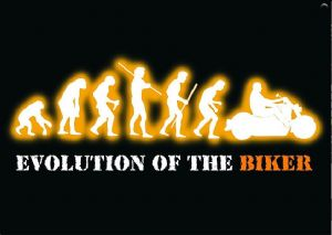 Evolution Of The Biker funny fridge magnet   (ga)